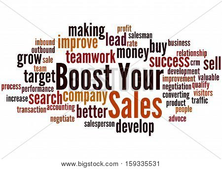 Boost Your Sales, Word Cloud Concept