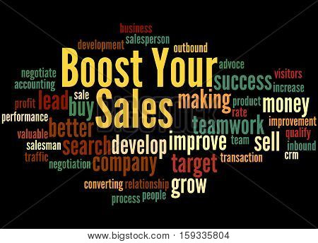 Boost Your Sales, Word Cloud Concept 4