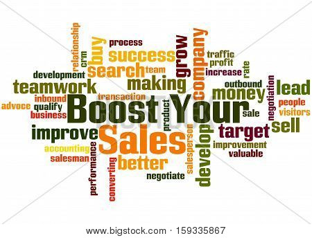 Boost Your Sales, Word Cloud Concept 5