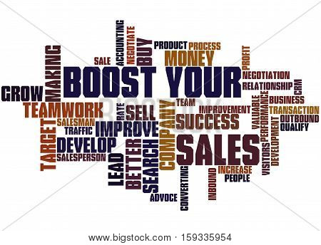 Boost Your Sales, Word Cloud Concept 6