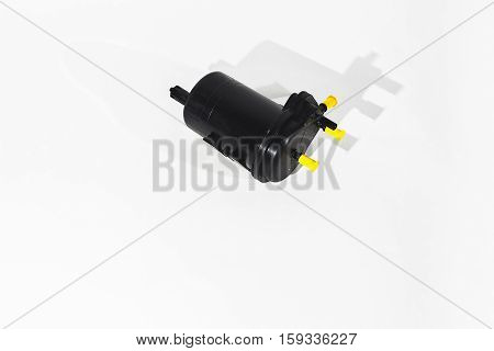 Fuel filter. Isolate on white background.  Auto Parts. Spare parts.