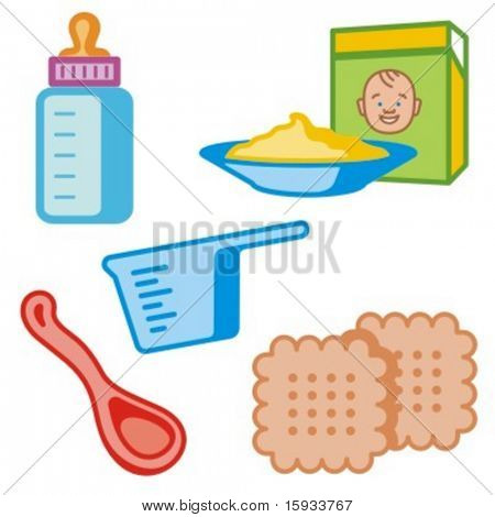 Baby icons series. Baby feeding. Check my portfolio for much more of this series as well as thousands of similar and other great vector items.