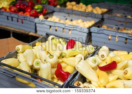 Delicious Vegetables On A Market