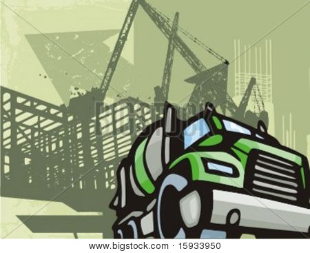 Bau-LKW-Hintergrund-Serie. Überprüfen Sie mein Portfolio für viel mehr von dieser Serie sowie ebenso tho
