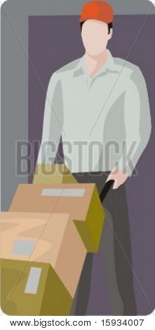 Vector profession series. Delivery man.