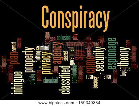Conspiracy, Word Cloud Concept 6