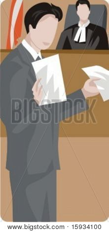 Vector profession series. Lawyer and judge working in the court. Check my portfolio for much more of this series as well as thousands of similar and other great vector items.