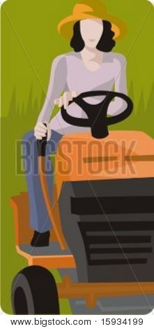 Vector profession series. Farmer. Check my portfolio for much more of this series as well as thousands of similar and other great vector items.