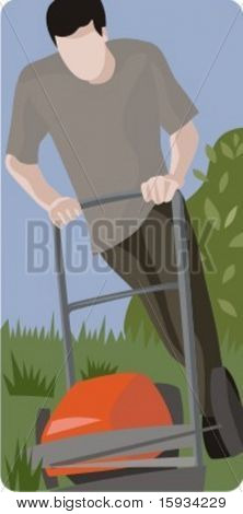 Vector profession series. Gardener. Check my portfolio for much more of this series as well as thousands of similar and other great vector items.