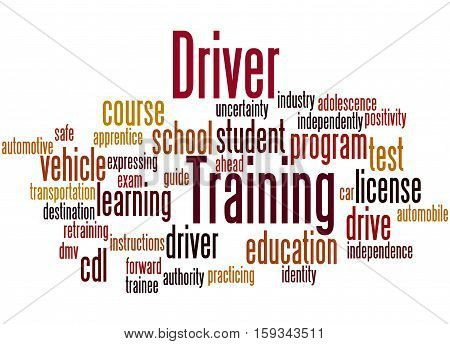 Driver Training, Word Cloud Concept 3