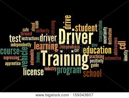 Driver Training, Word Cloud Concept 5