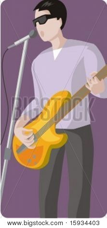 Musician vector illustration series. Singer. Check my portfolio for much more of this series as well as thousands of similar and other great vector items.