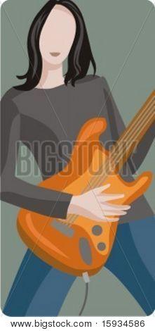 Serie de ilustración de vector de músico. Músico. Comprobar mi cartera para mucho más de esta serie como