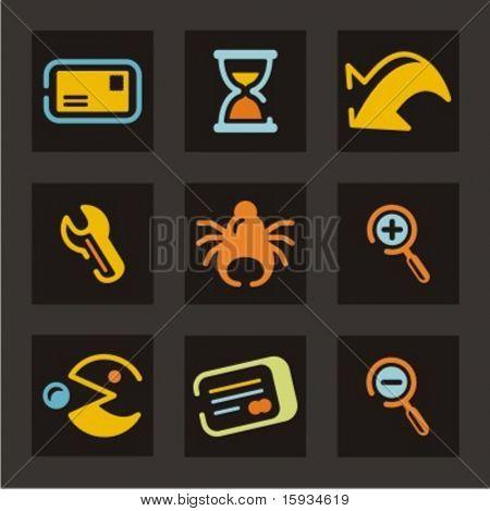 Conjunto de ícones de Web. Confira meu portfólio para muito mais desta série, bem como milhares de semelhante e o