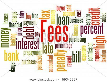 Fees, Word Cloud Concept 3