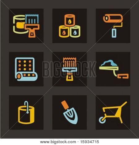 Icons Set-Werkzeuge. Überprüfen Sie mein Portfolio für viel mehr von dieser Serie sowie Tausende von ähnlichen und