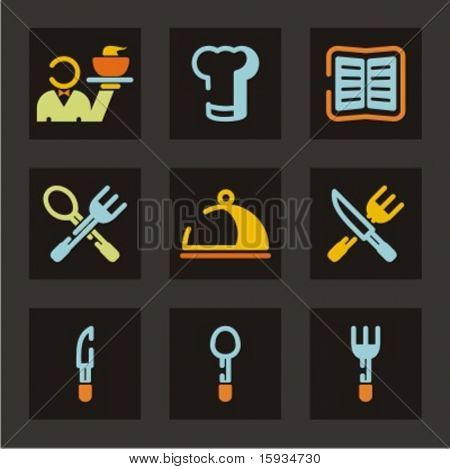 Restaurant icons set. Check my portfolio for much more of this series as well as thousands of similar and other great vector items.