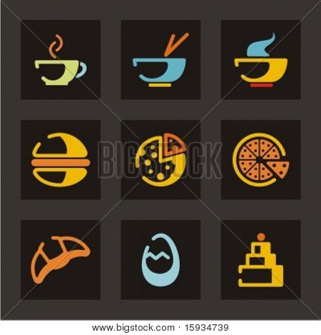 Restaurant icons set. Foods. Check my portfolio for much more of this series as well as thousands of similar and other great vector items.