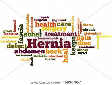 Hernia, Word Cloud Concept 3