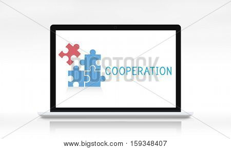 Teamwork Connection Cooperation Partnership Concept