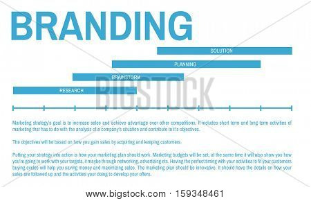 Marketing Business Strategy Progress Concept