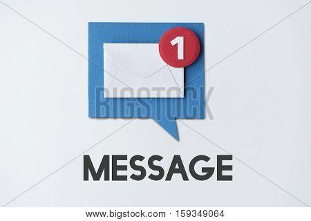 Email Alert Popup Reminder Concept