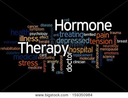 Hormone Therapy, Word Cloud Concept 5