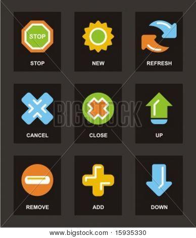 Série de ícone de cor. Conjunto de ícones básicos. Confira meu portfólio para muito mais do que esta série, bem como do Mato