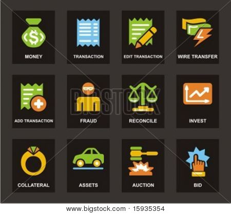 Color Icon Series. Finances icons set. Check my portfolio for much more of this series as well as thousands of similar and other great vector items.