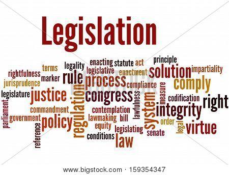 Legislation, Word Cloud Concept 4