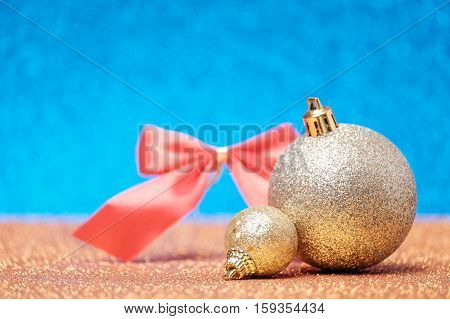 Christmas Composition On Bright Background