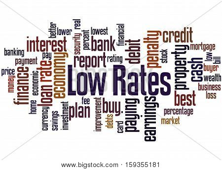 Low Rates, Word Cloud Concept 2