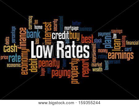 Low Rates, Word Cloud Concept 3