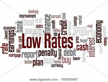 Low Rates, Word Cloud Concept 7