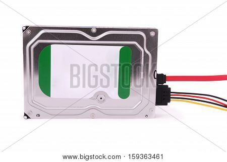 Computer hard disk isolated on white background