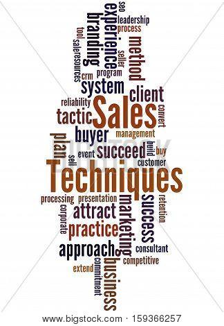 Sales Techniques, Word Cloud Concept