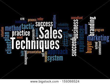 Sales Techniques, Word Cloud Concept 5