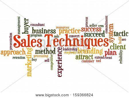 Sales Techniques, Word Cloud Concept 9