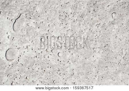 Texture Of Pitted Gray Concrete