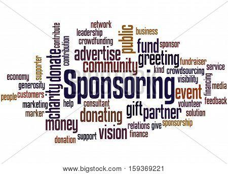 Sponsoring, Word Cloud Concept 6