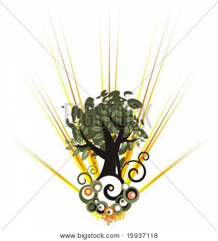 Tree background. Check my portfolio for more of this series as well as thousands of other great vector items.