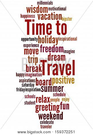 Time To Travel, Word Cloud Concept