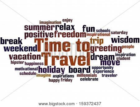Time To Travel, Word Cloud Concept 3