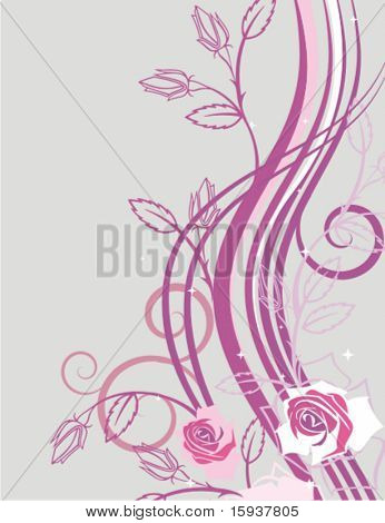 Exquisite floral background with roses and rose buds. Check my portfolio for more of this series as well as thousands of other great vector items.