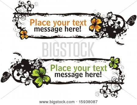 Floral vector frame with place for your text. Check my portfolio for many more of this series as well as thousands of other great vector items.