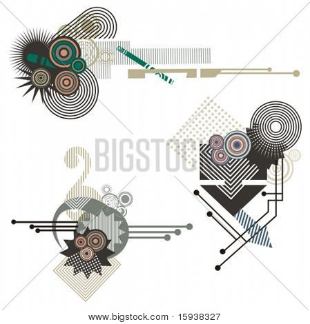 abstrakt technische Design-Elemente mit Schaltung Details. Überprüfen Sie mein Portfolio für viel mehr von diesem se