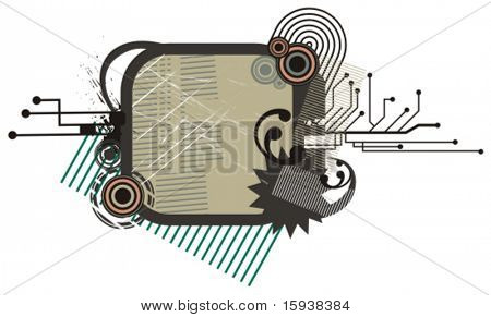 Abstract technical background series with circuit details. Check my portfolio for much more of this series as well as thousands of other great vector items.