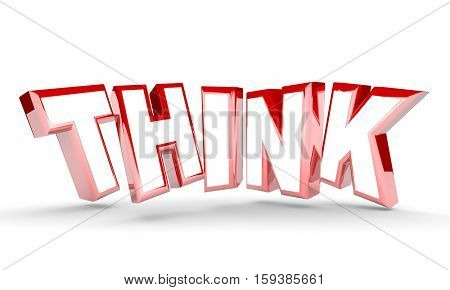 Think Word Letters Rising Consider Decide 3d Illustration