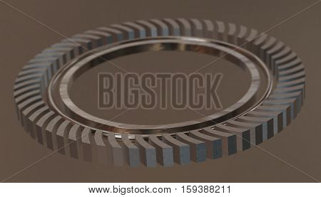 Abstract wheel industrial gear. 3d render background