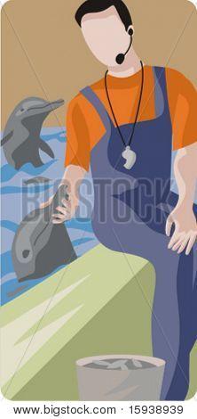 Serie de ilustración de vector de Zoología. Parque zoológico. Comprobar mi cartera para más de esta serie como thous
